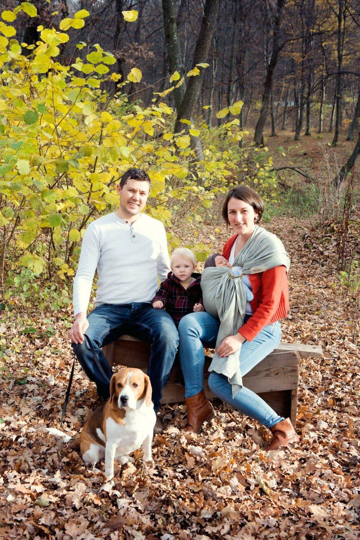 Aventuri in cinci sedinta foto toamna bebe si familia